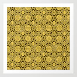 Primrose Yellow Star Art Print