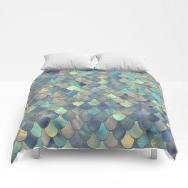 Mermaid Sea Shell Iridescent Comforters