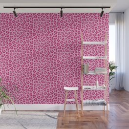 Leopard - Lilac and Pink Wall Mural