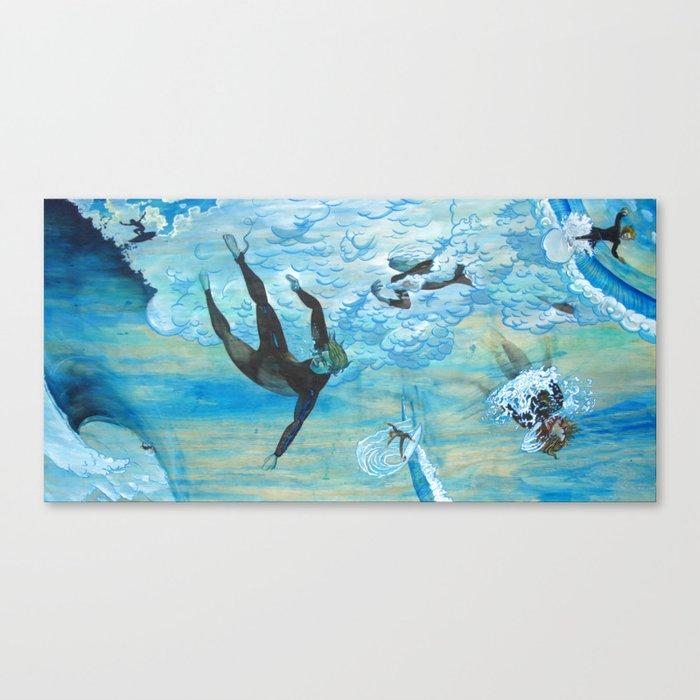 Chaotic Surfer Canvas Print