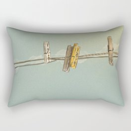 Vintage Clothespin Rectangular Pillow