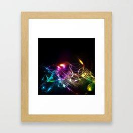 Music Notes in Color Framed Art Print