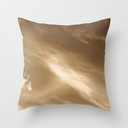 Coffee Sky Throw Pillow