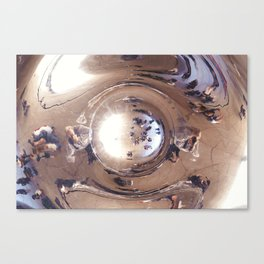 Reflecting, Under Cloud Gate, Chicago Canvas Print