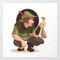 robin hood Art Prints featuring Robin Hood by Kenimation