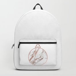 Rose gold Christmas bauble Backpack