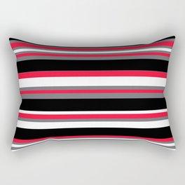Stripes Pattern: Red Rectangular Pillow