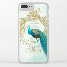 Peacock Mode Clear iPhone Case