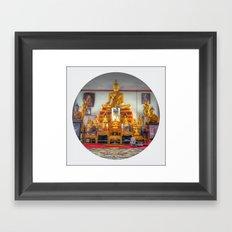 Buddha Shrine (Circle) Framed Art Print