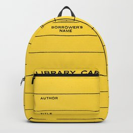 Library Card BSS 28 Yellow Backpack