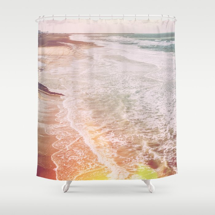 Beach Waves Sea Landscape Shower Curtain By Ppolecho