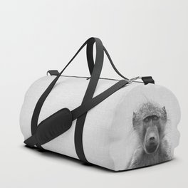 Baboon - Black & White Duffle Bag