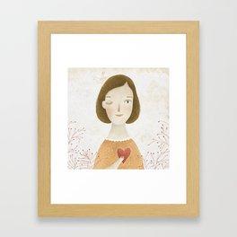 Big Heart Framed Art Print