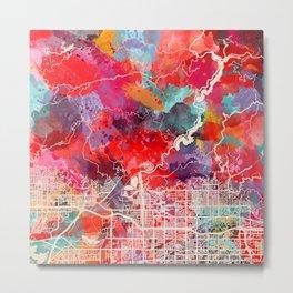 Azusa map California CA 2 Metal Print