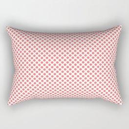 Georgia Peach Polka Dots Rectangular Pillow