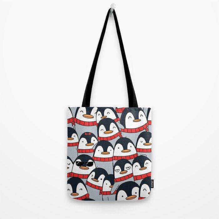 Merry Christmas Penguins! Tote Bag
