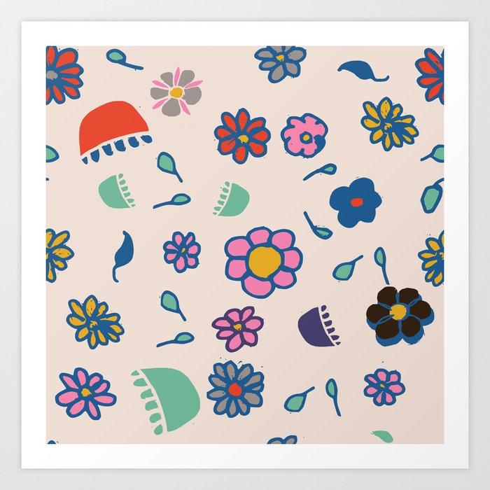 Floral spring Art Print