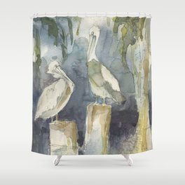 The Conversation Shower Curtain