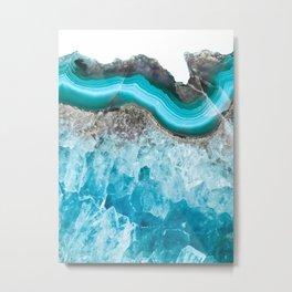 Mermaid Agate Metal Print