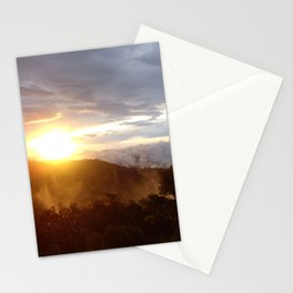 Sunset over the jungle in Costa RIca Stationery Cards