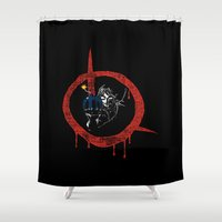 vendetta Shower Curtains featuring Link for vendetta by unknowndesigner