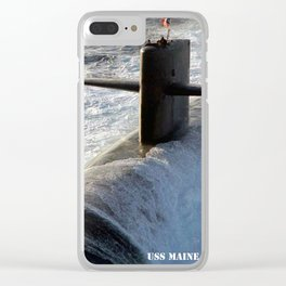 USS MAINE (SSBN-741) Clear iPhone Case