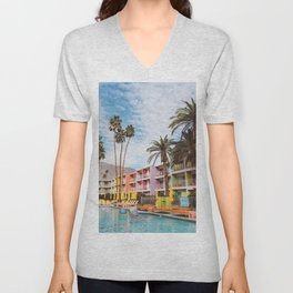 Palm Springs Pool Day VII Unisex V-Neck