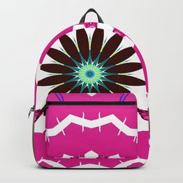 Bright Pink and White Flower Backpack