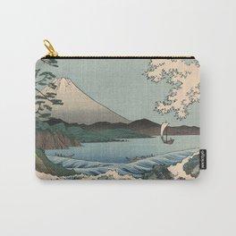 Utagawa Hiroshige - Sea Off Satta, Suruga Province - Vintage Japanese Woodblock Print Art, 1858. Carry-All Pouch