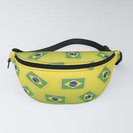 Brazilian Flag Pattern Fanny Pack