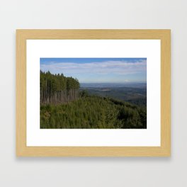 The Valley + Mountains Framed Art Print