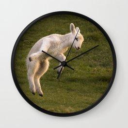 prancing lamb Wall Clock