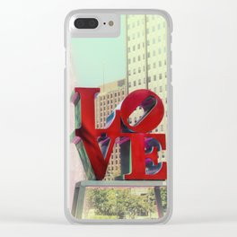 Philly Love Clear iPhone Case