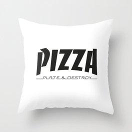 Thrash WHT Throw Pillow
