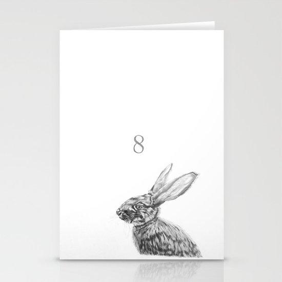 Rabbit 8 Stationery Cards