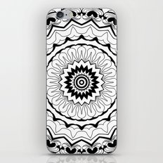 Black-and-white kaleidoscope . iPhone & iPod Skin