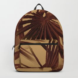 Burgundy and Coffee Tropical Beach Palm Vector Backpack