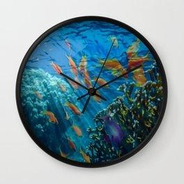 Orinoco Flow - Far Beneath the Coral Sea, Ocean Portrait by Jeanpaul Ferro Wall Clock
