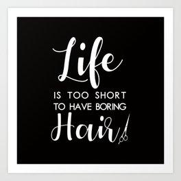 Hair Stylist Art Print