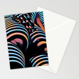1937s-AK Striped Woman Hand Down Back Bum Butt Abstract Nude Female Ass Stationery Cards