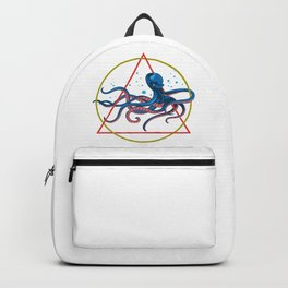 Geometric Pattern Octopus Backpack
