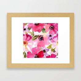 watercolor flower Framed Art Print