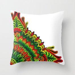 Tribal Corner Mandala Throw Pillow