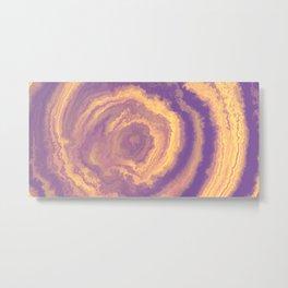 Lilac Agate Mineral Texture Metal Print