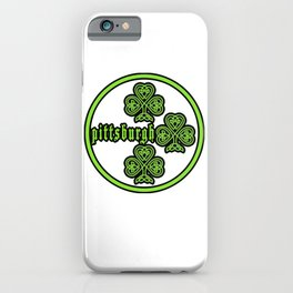 Pittsburgh St Patricks Day Steeler Design iPhone Case