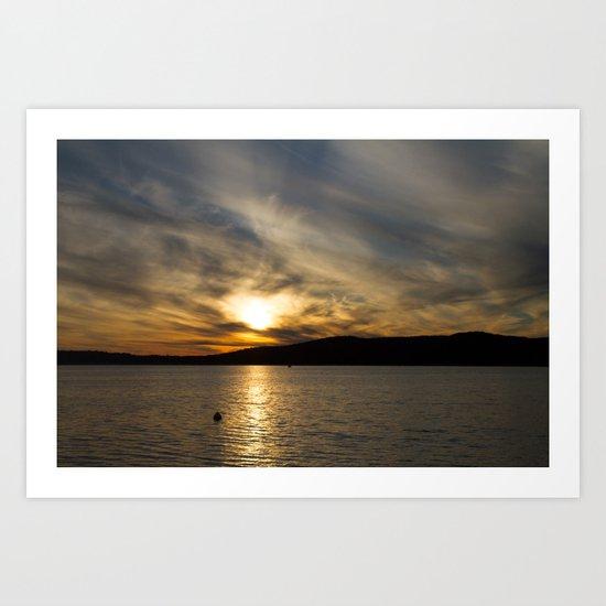 Let's watch the sun go down Art Print