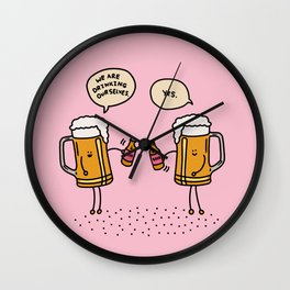 Beers Night Out…. Wall Clock