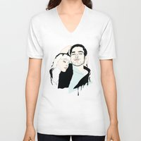 lovers V-neck T-shirts featuring Lovers by Anna McKay