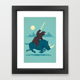 The Decider Framed Art Print