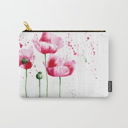Expressive poppies || watercolor Carry-All Pouch